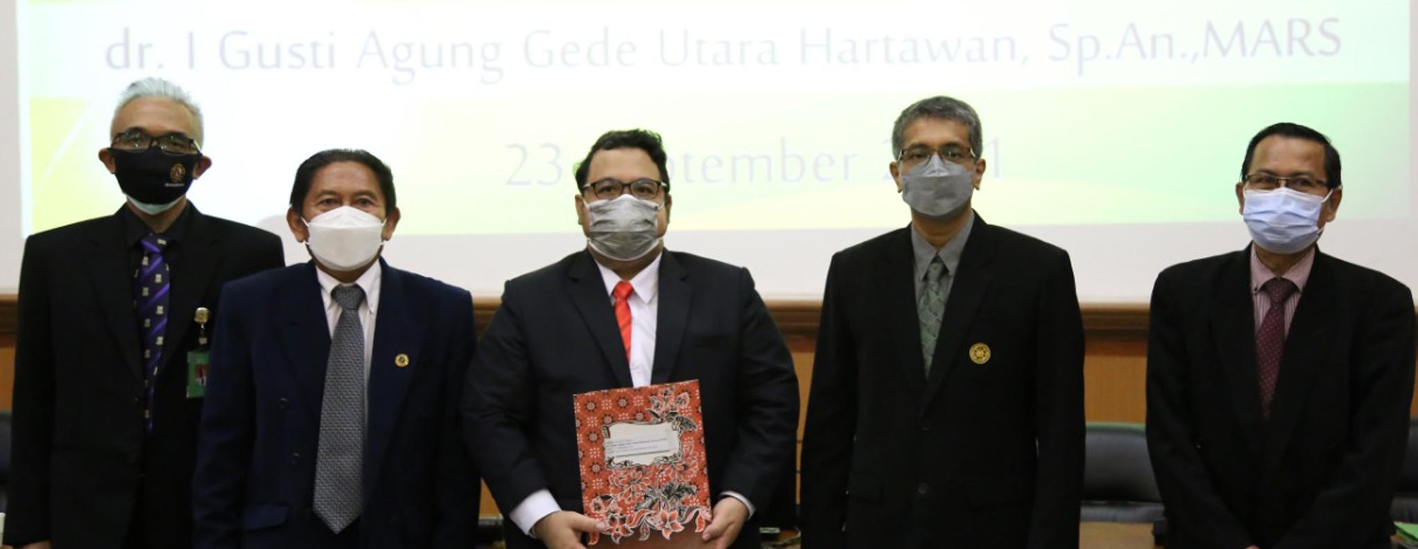 Ujian Daring Promosi Doktor dr. I Gusti Agung Gede Utara Hartawan, Sp.An.,MARS